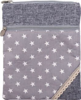 Patchwork Crossbag 177-047 (Grey Stars)