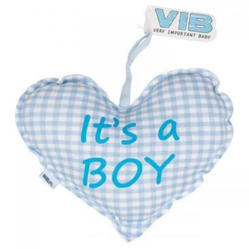 Herz Kissen It´s A Boy (Blau)