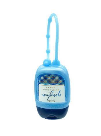 Anhänger für Hand-Desinfektionsgel - Blue Pearl mit Rückseite