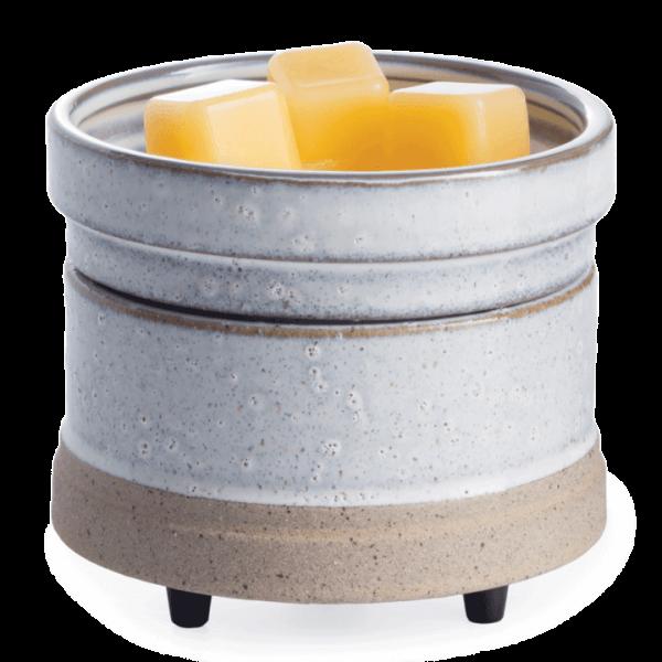 Rustic White 2-in-1 Classic Duftlampe grau/creme aus Keramik elektrisch