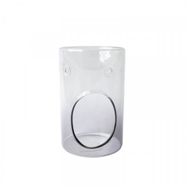Duftlampe Savoy graues Glas