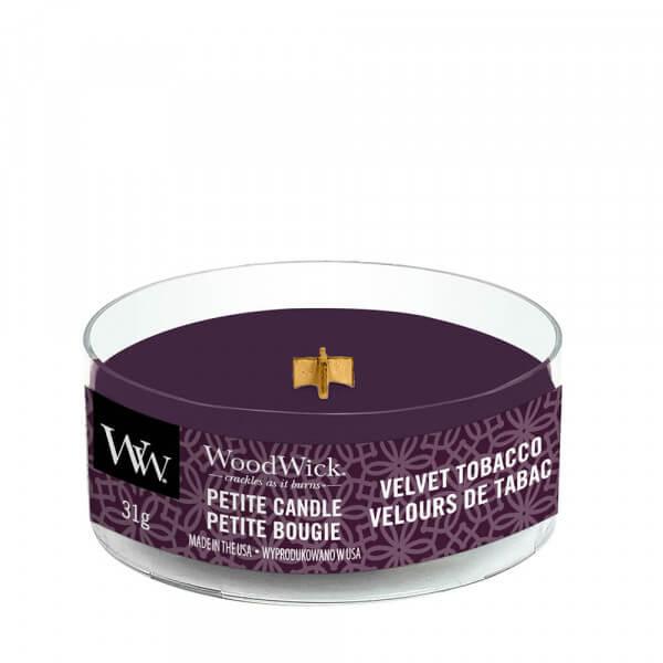 Velvet Tobacco Petite Candle 31g von Woodwick