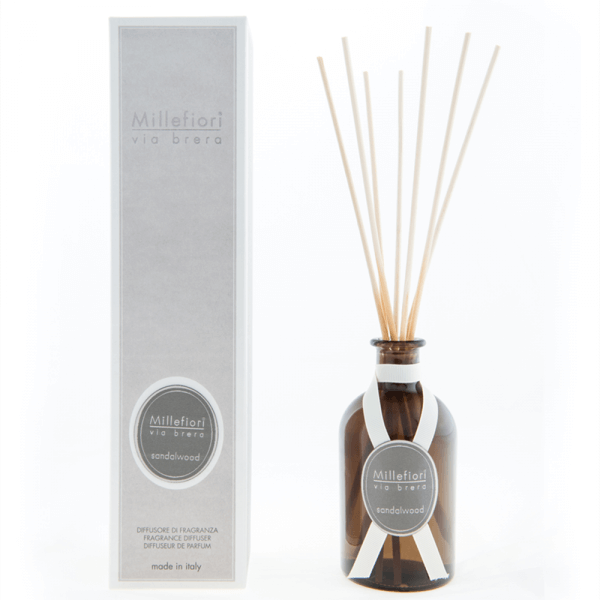 Sandalwood - Via Brera Diffuser 100ml - Millefiori