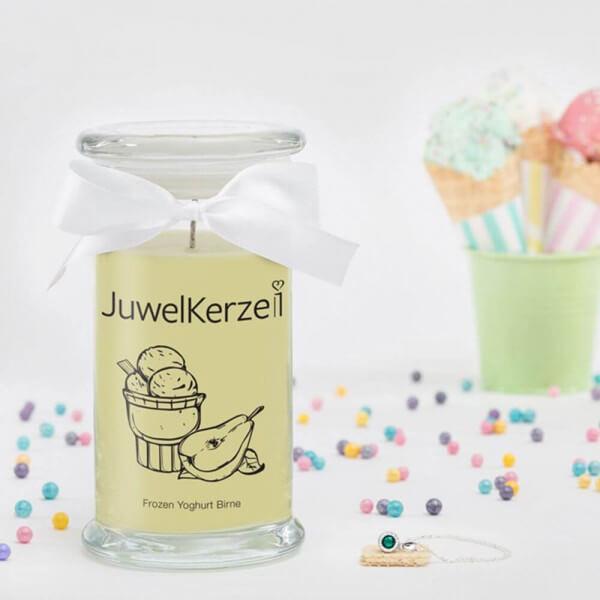 JuwelKerze Frozen Yoghurt Birne (Halskette mit Anhänger) 380g