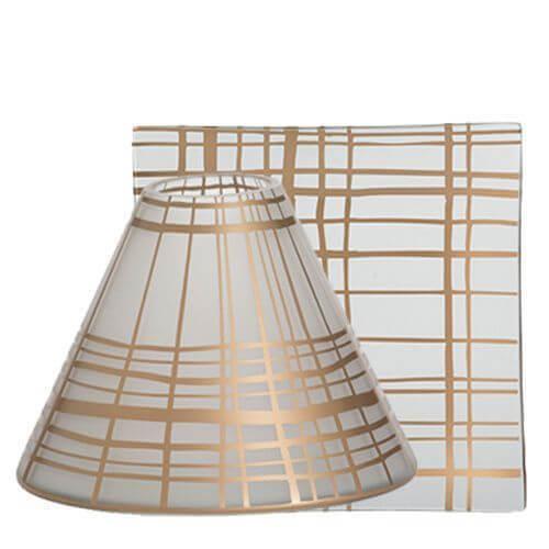 Copper Elegance Lampenschirm und Tellerset groß
