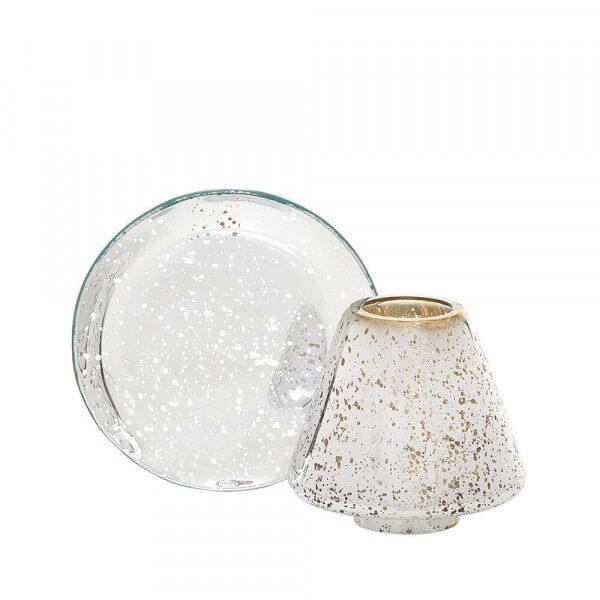Yankee Candle Shimmer Glow - Kleiner Schirm & Teller