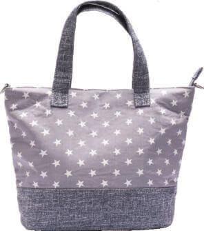 Patchwork Handtasche 177-65 (Grey Stars)