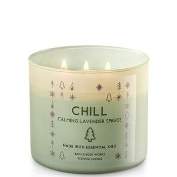 bath body works chill calming lavender spruce 411g candle dream. Black Bedroom Furniture Sets. Home Design Ideas