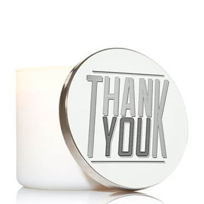 Bath and Body Works 3 Wick Candle Lid Magnet - Thank You