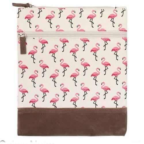 Canvas Crossbag 023 (Nature Flamingos)