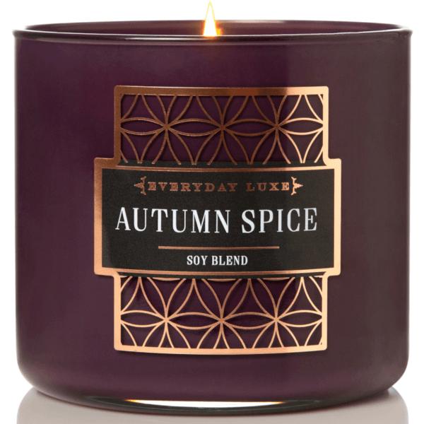 Duftkerze Holzdocht Autumn Spice Purple - 411g