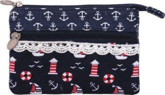 Patchwork Geldbörse (Navy 036)