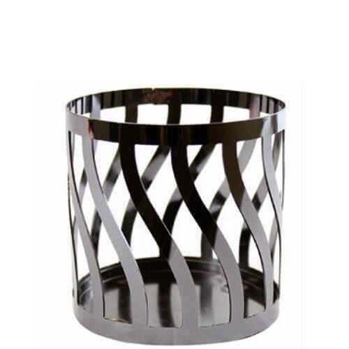 Curve Gun Metal Pillar Holder/ Fragrance Sphere Holder