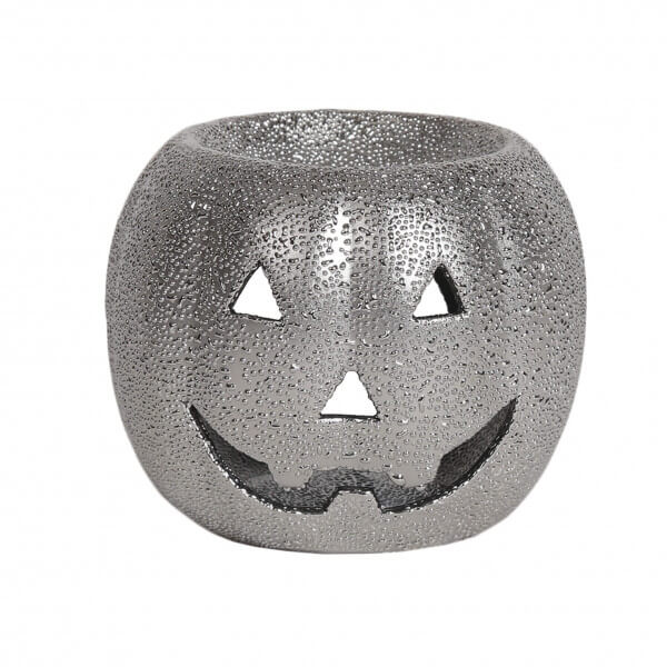 Duftlampe Pumpkin silver 8cm