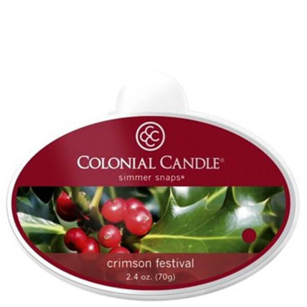 Colonial Candle Crimson Festival Simmer Snaps 70g