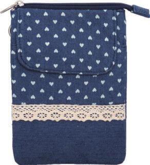 Patchwork Handtasche Umhängetasche (Navy 086)