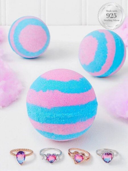 Cotton Candy Badebombe (Ring)