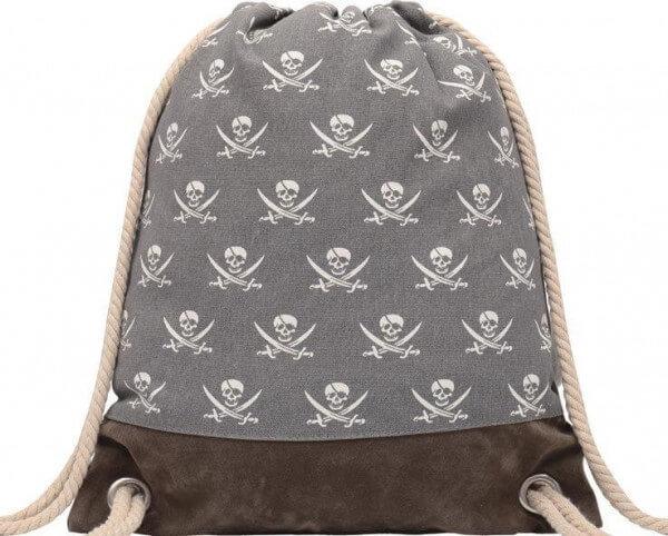 Turnbeutel Piraten Grau 015