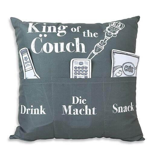 King of the Couch Kissen mit 3 Einstecktaschen