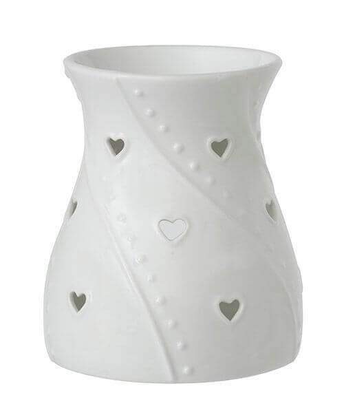 Duftlampe White Hearts
