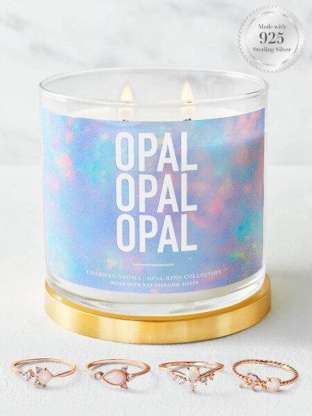 Opal Duftkerze (Ring)