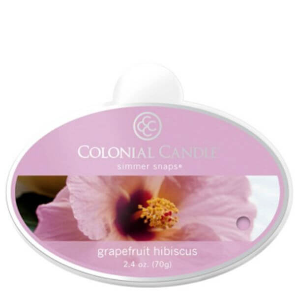 Colonial Candle Grapefruit Hibiscus Simmer Snaps 70g