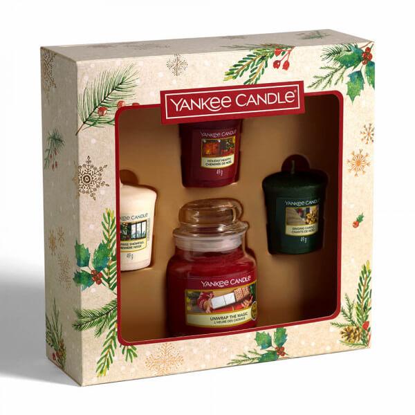 1 kleines Jar & 3 Votivkerzen Geschenkset von Yankee Candle 2020 Bild leicht Seitlich