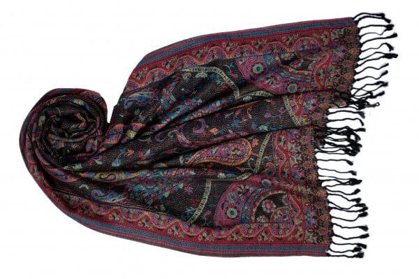 Jacquard Schal Darya dunkelgrau 813