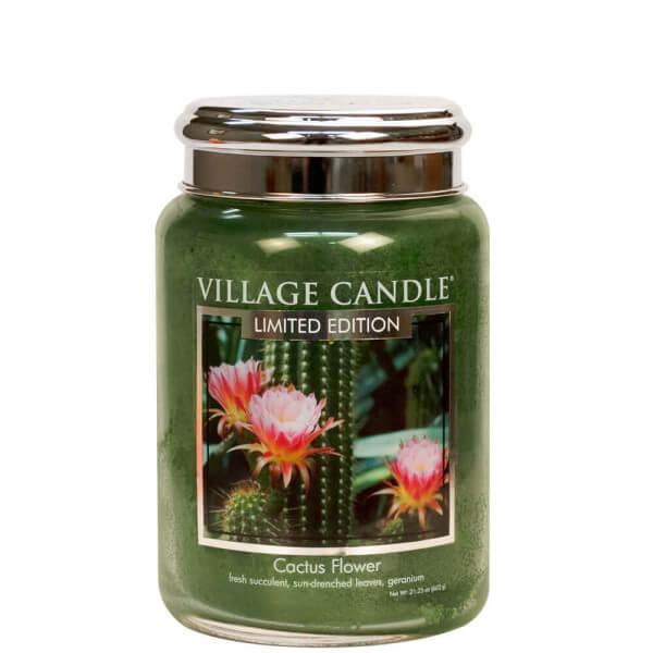 Village Candle Cactus Flower