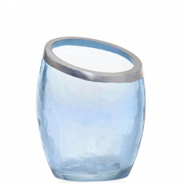 Pearlescent Crackle - Votivkerzenhalter Blau