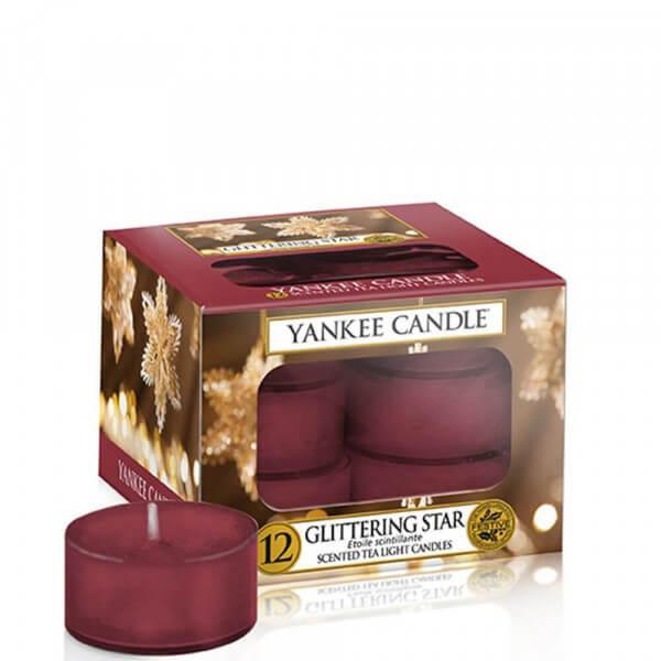 Glittering Star 12 St. Teelichter Kerzen von Yankee Candle