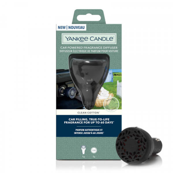 Clean Cotton Car Powered Fragrance Diffuser