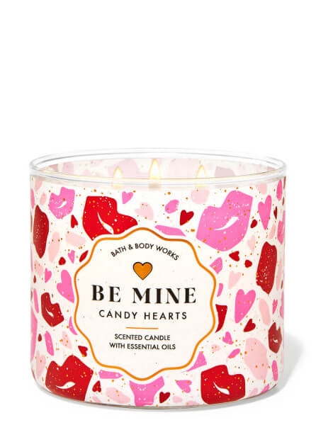 3-Docht Kerze - Candy Hearts - Be Mine- 411g