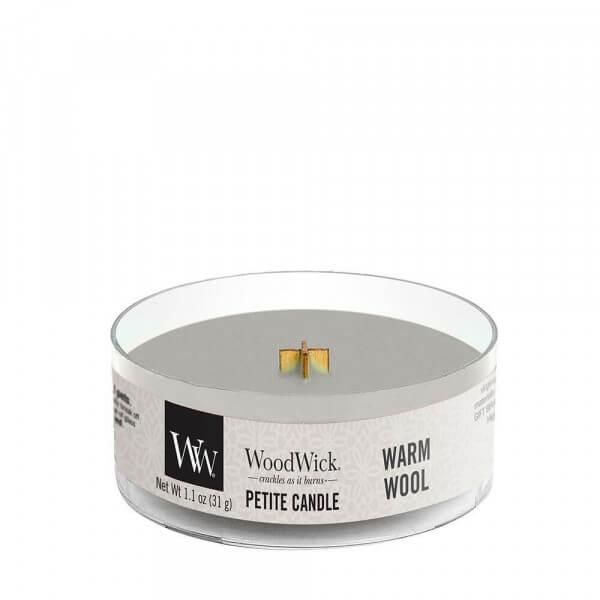 Warm Wool Petite Candle 31g von Woodwick