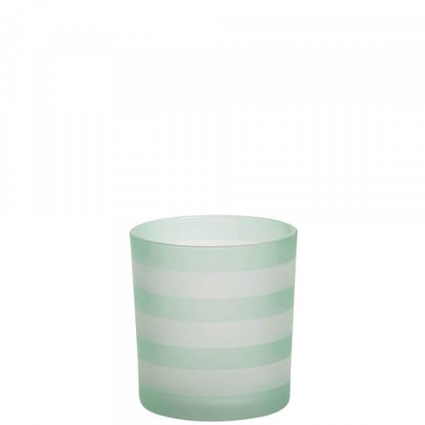 Yankee Candle - Coastal Stripe Teelichthalter grün