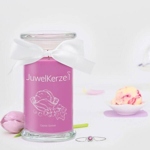JuwelKerze Cassis Sorbet 380g