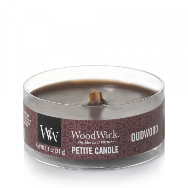 Oudwood Petite Candle 31g von Woodwick