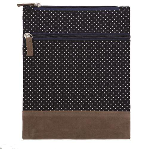Canvas Crossbag 021 (Navy Dots)