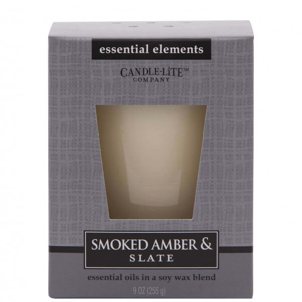 Smoked Amber & Slate 255g von Candle-Lite
