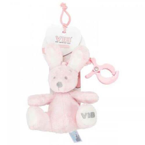 Rabbit Rosa Sitzend mit Clip