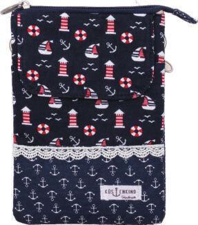 Patchwork Handtasche Umhängetasche (Navy 080)