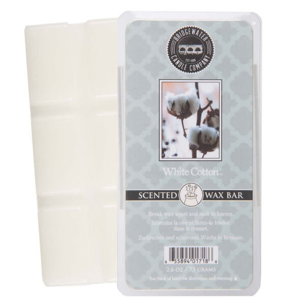 White Cotton Wax Bar 73g - Bridgewater