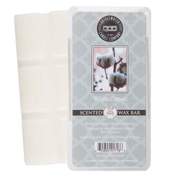 White Cotton Wax Bar 73g - Bridgewater