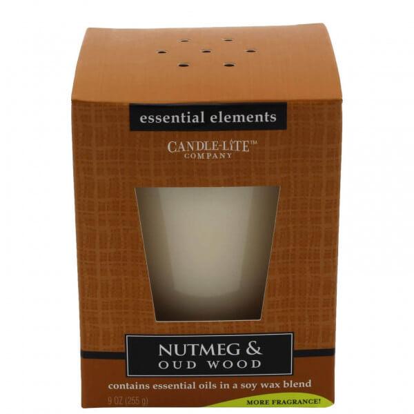 Nutmeg & Oud Wood 255g von Candle-Lite