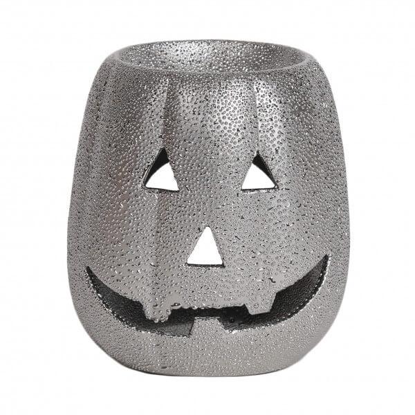 Duftlampe Pumpkin silver 10cm