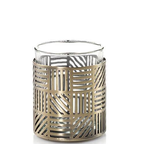Yankee Candle Crosshatch Brass Votivkerzenhalter