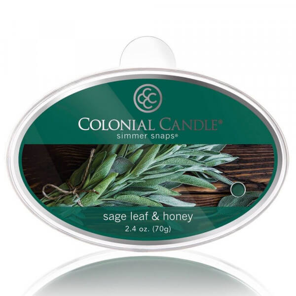 Colonial Candle - Sage Leaf & Honey Simmer Snap 70g