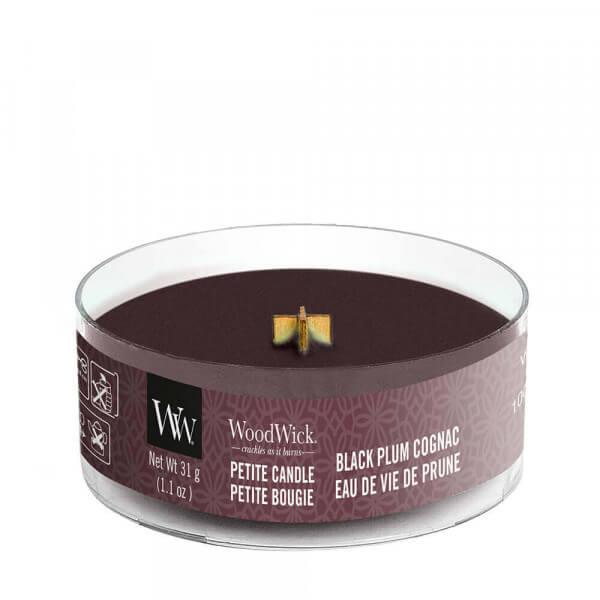 Black Plum Gognac Petite Candle 31g von Woodwick