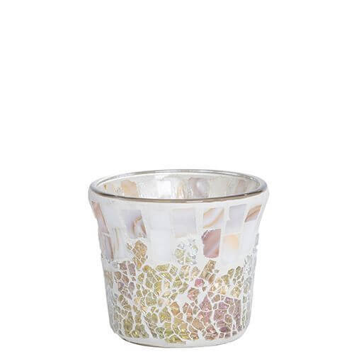 Yankee Candle - Gold and Pearl Crackle Votiv Holder