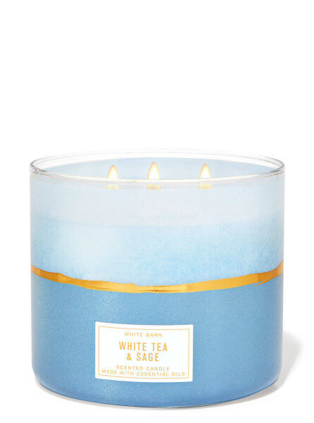 3-Docht Kerze - White Tea & Sage - 411g
